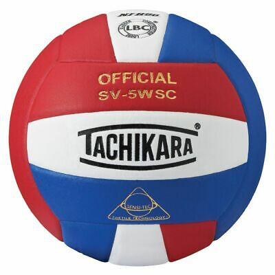Tachikara SV5WSC Sensi-Tec Composite Volleyball (Red, Wht, Blue)