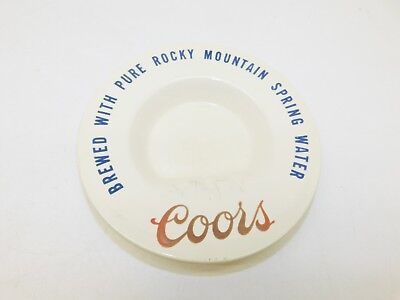 Vintage Coors Ashtray Brewed W/ Rocky Mountain Spring Water Golden Co.Ceramic