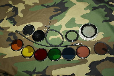 Lot 8 Hoya/Nikon 52mm Filters/ 2 Metal Caps/ NF 52 Reverse Ring Adapter/ AR-2