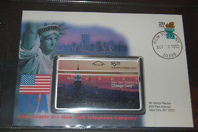 Telefonkarte USA  New York Change Card 5,25 Coin replacement Card Oct 1992