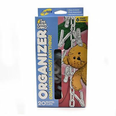 NEW! Original Chain Gang Toy Organizer - Pastel 20 count Hooks Display Wall