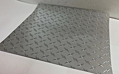 Silver Diamond Plate Sign Plotter Cutter Vinyl Roll, BUY IT BY THE FOOT