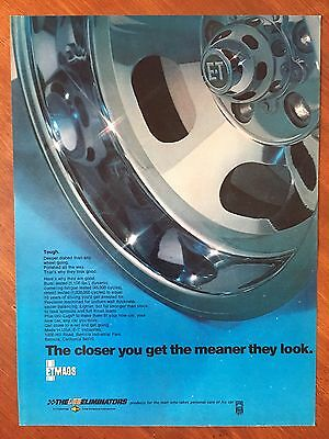 Vintage 1972 Original Print Ad E-T MAGS WHEELS ~The Meaner They Look~