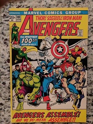 AVENGERS # 100 Bronze Age MARVEL Comic 1972 VF+ EVERYONE WHO WAS AN AVENGER