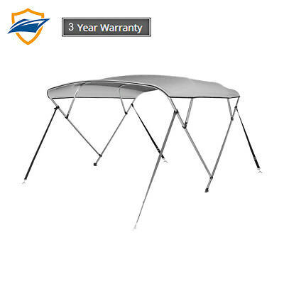 4 Bow Bimini Boat Top Cover with storage boot, Color Gray, sizes available