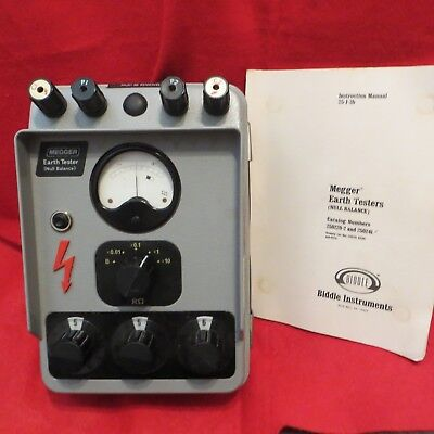 BIDDLE 250241 Megger Null BALANCE EARTH TESTER with Instructions & Case