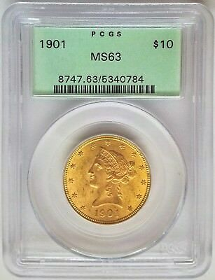 1901 $10 Liberty Head Gold Eagle PCGS MS63 Old Green Holder (OGH)