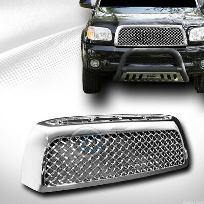 Chrome T-Sport Mesh Front Hood Bumper Grill Grille Cover For 07-09 Toyota Tundra