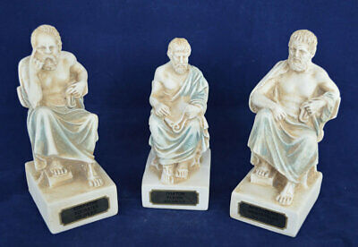 Socrates Aristotle Plato sculpture set of 3 small statues - Greek Philosophers