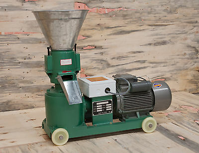 """5"""" 3kw Biomass Pellet Mill: Make feed/fuel pellets. In stock USA. Free Shipping!"""