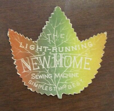 1890s Die Cut Leaf Light Running New Home Sewing Machine Advertising Trade Card