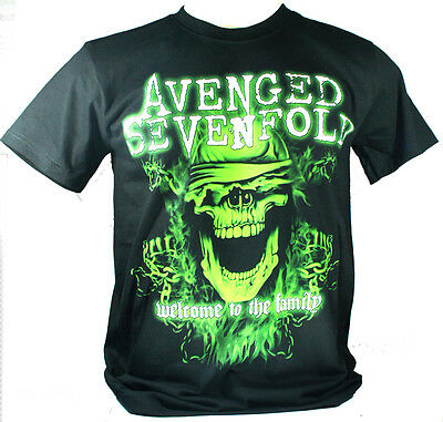 Avenged Sevenfold Large Size L New! T-Shirt (Welcome To The Family A7X) 1261