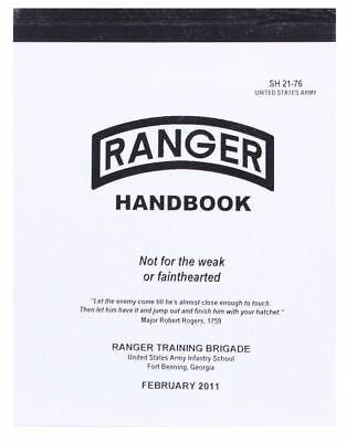 Official US Ranger Handbook Army Book Military Training Manual Guide SH 21-76