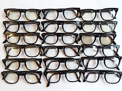 True Vintage Men's LOT of 18 Black USS Thick Hornrim1960's Eyeglasses Frame 1320