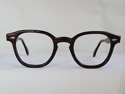True Vintage AO American Optical Redwood Hornrim 1960's Eyeglass Frame 46/22 VG