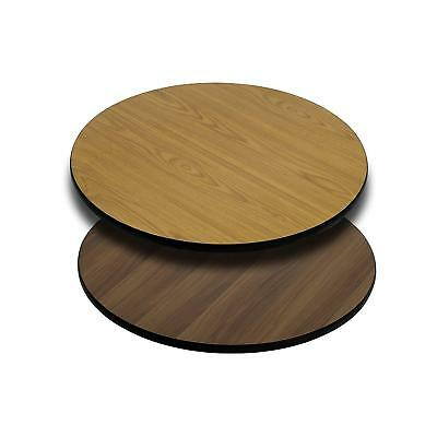 Round Table Top Wood 24 Inch Reversible Laminate Replacement Parts Furniture Set