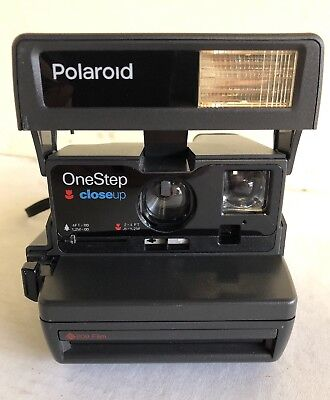 Polaroid Black One Step Close Up Instant Camera *Untested*