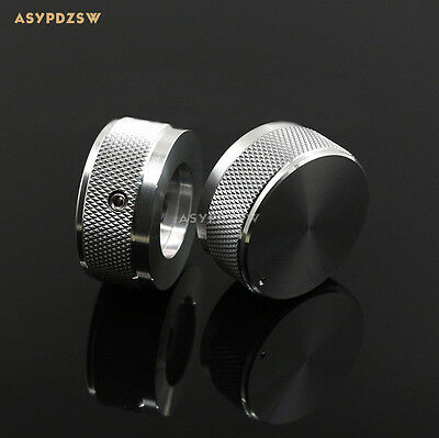 1 PCS 35*16 Knurled gloss silver Aluminum amplifier Volume potentiometer knob