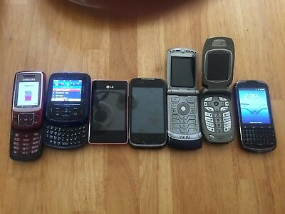 Lot Sale Of Random Phones Working And Not