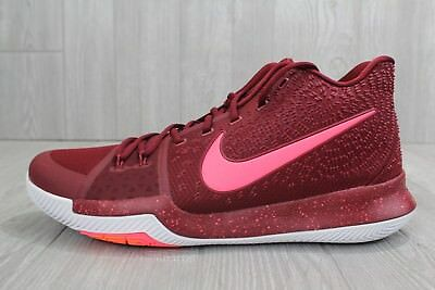 """27 NEW Nike Kyrie 3 'Warning"""" Shoes Team Red Hot Punch 852395 681 Men's Size 16"""