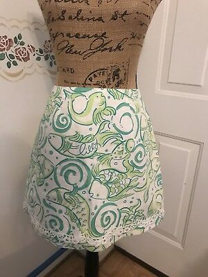 Lilly Pulitzer Blue Green And White Printed Skirt Size 2