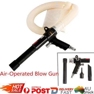 Air-Operated Suction Vacuum Blow Gun Kit Dust Blower Pneumatic Cleaning Tools AU