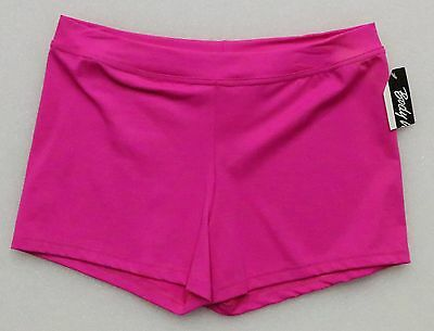 Body Wrappers Adult Size L Bw Prowear Boy-Cut Shorts Hot Pink Bwp281 New