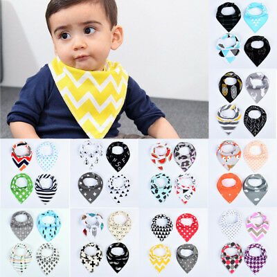 4Pcs Infant Kids Baby Roll Bibs Boy Girl Saliva Towel Dribble Triangle Bandana
