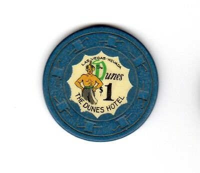 $1 Dunes, Las Vegas ~~  Issued in 1964  GREAT CHIP!!