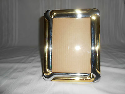 "Attractive Vintage Two Tone Silver & Gold Frame (4.5""w X 6.5""h)"