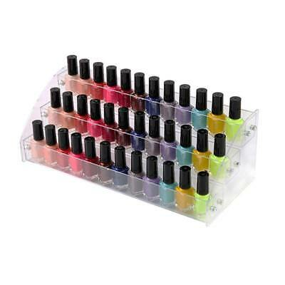 Clear Acrylic Nail Polish Rack 3 Tiers Holder Organizer Cosmetics Display Stand