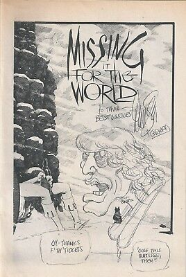 DAVE SIM Mick Jagger Sketch with Lot of 32 Cerebus Comics #65-100 Gerhard Issues