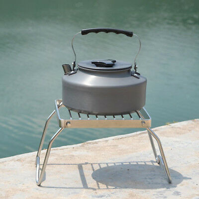 Stainless Steel Portable Folding Stove Stand Camping Hiking Cooking Tools