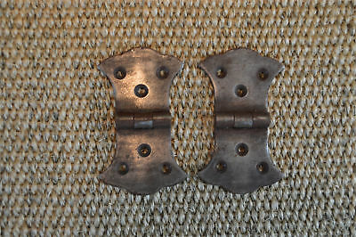 Pair of antique style box hinges chest hinge coffer trunk furniture hinges H6
