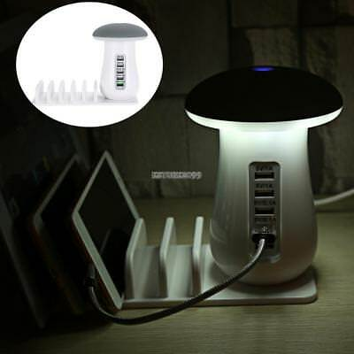 5-Port USB hub Charging Dock Station Charger Stand organizer For Tablet Phone