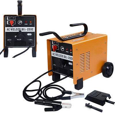 New 250 AMP Welder Flux Core Wire Automatic Feed AC Welding Machine Set 110/220V