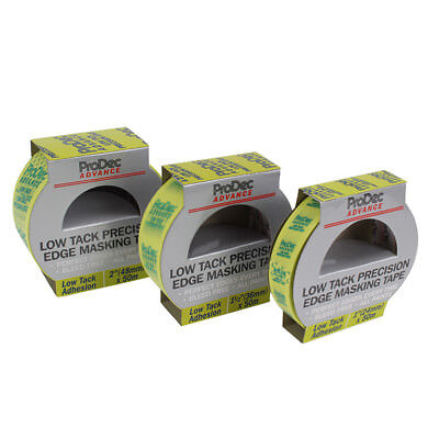 ProDec Advance Low Tack Precision Edge Masking Tape 50 Metre Roll - 3 Widths