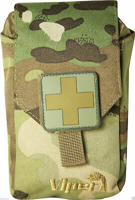 Viper Tactical First Aid Kit MOLLE Pouch Military Army Modular V-Cam Airsoft New