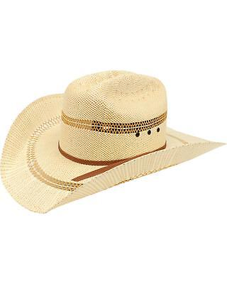 f3876af7fbeed ARIAT DOUBLE S Eyelet Bangora Straw Cowboy Hat - A73124 -  29.02 ...