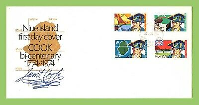 Niue 1974 James Cook set on First Day Cover