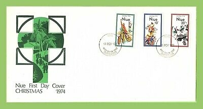 Niue 1974 Christmas set on First Day Cover, unaddressed