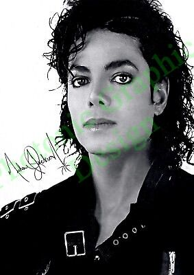 Micheal Jackson Music Signed A4 Photo Print Only Poster Reprint Signature