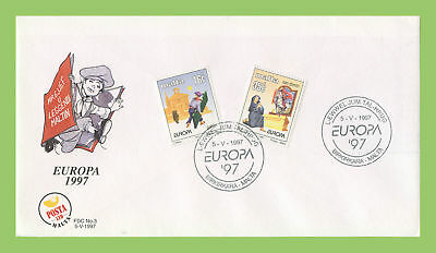 Malta 1997 Europa. Tales and Legends set on First Day Cover, Birkirkara
