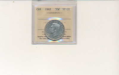 1948 50 cents,  VF-20 Certified