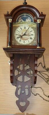 Dutch moonphase wall clock case with FHS movement for spares