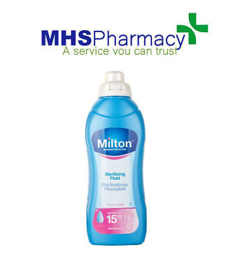 Milton Sterilising Fluid 1L Disinfect Baby Bottles Soothers