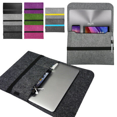 Laptop Felt Sleeve Case Cover Bag for Asus Notebooks VivoBook ZenBook ChromeBook
