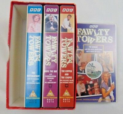 Vintage Complete Box Set Fawlty Towers Cult Comedy VHS/SH 1998 4 Tape Set video