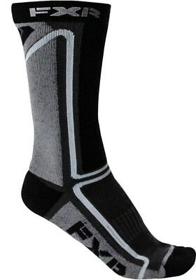FXR Mission Mens 1/2 Length Athletic Socks Charcoal/Black One Size Fits All