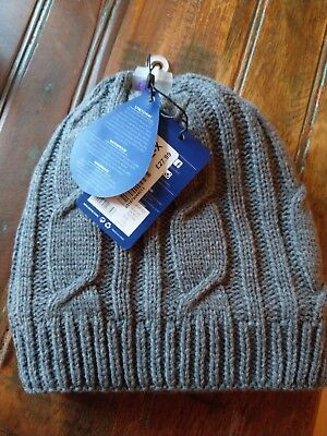New with tags SealSkinz Waterproof Breathable Cable Knit Sailor Beanie Hat  Grey 70e21834254